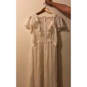 For Love and Lemons sheer white maxi dress